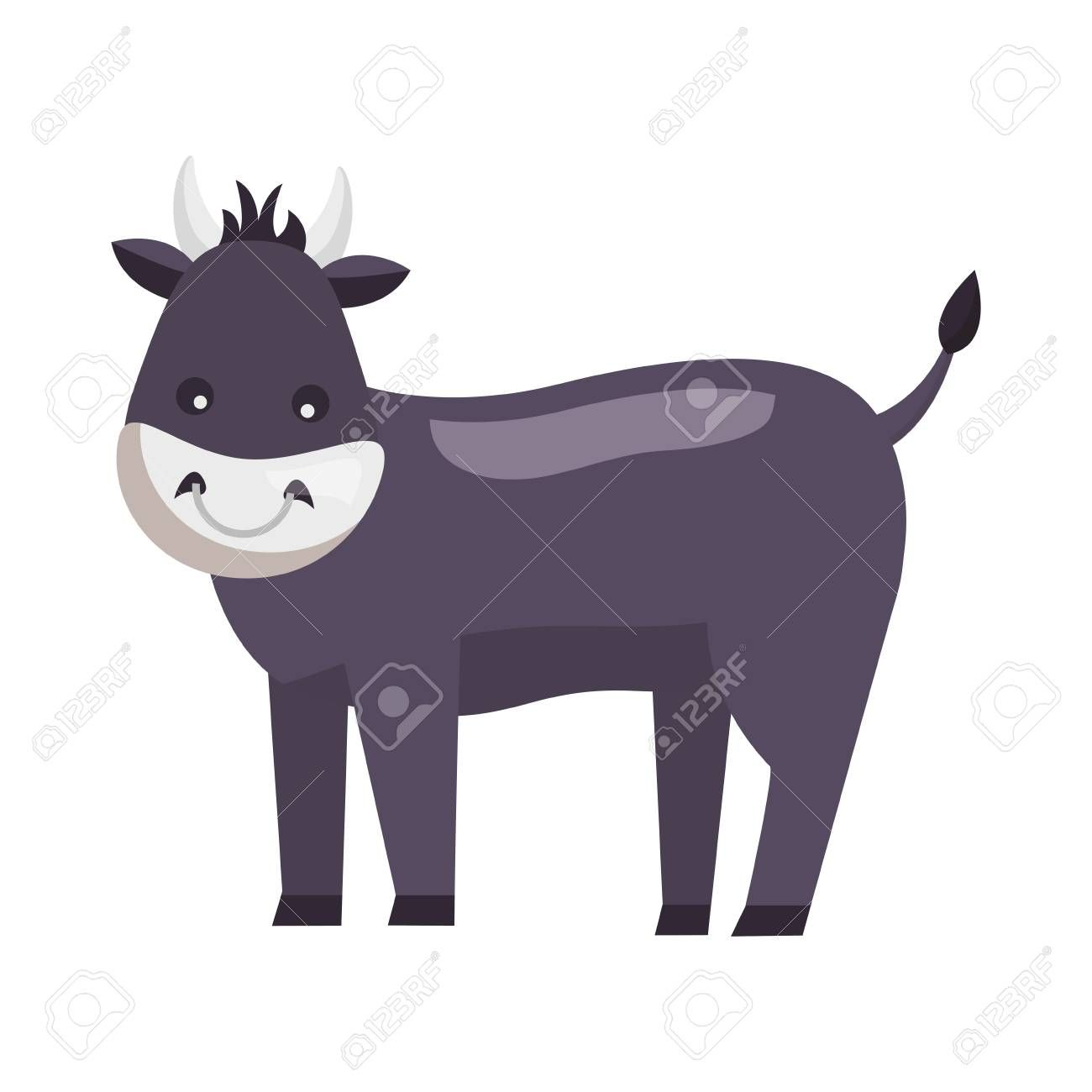 Bull Farm Animal On White Background Vector Illustration Affiliate Animal Farm Bull White Illustration Illustration Animals Farm Animals
