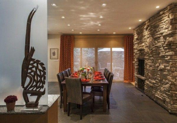 Genial Steinwände Im Innenraum: Moderne Einrichtungssstrategien | Steinwand,  Wandgestaltung Und Wanddekoration