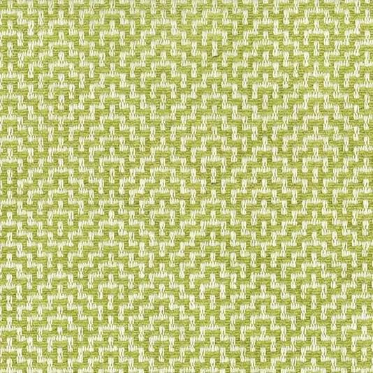 Ardee Fabric A pleasing fabric with a geometric pattern woven in off-white and chartreuse.