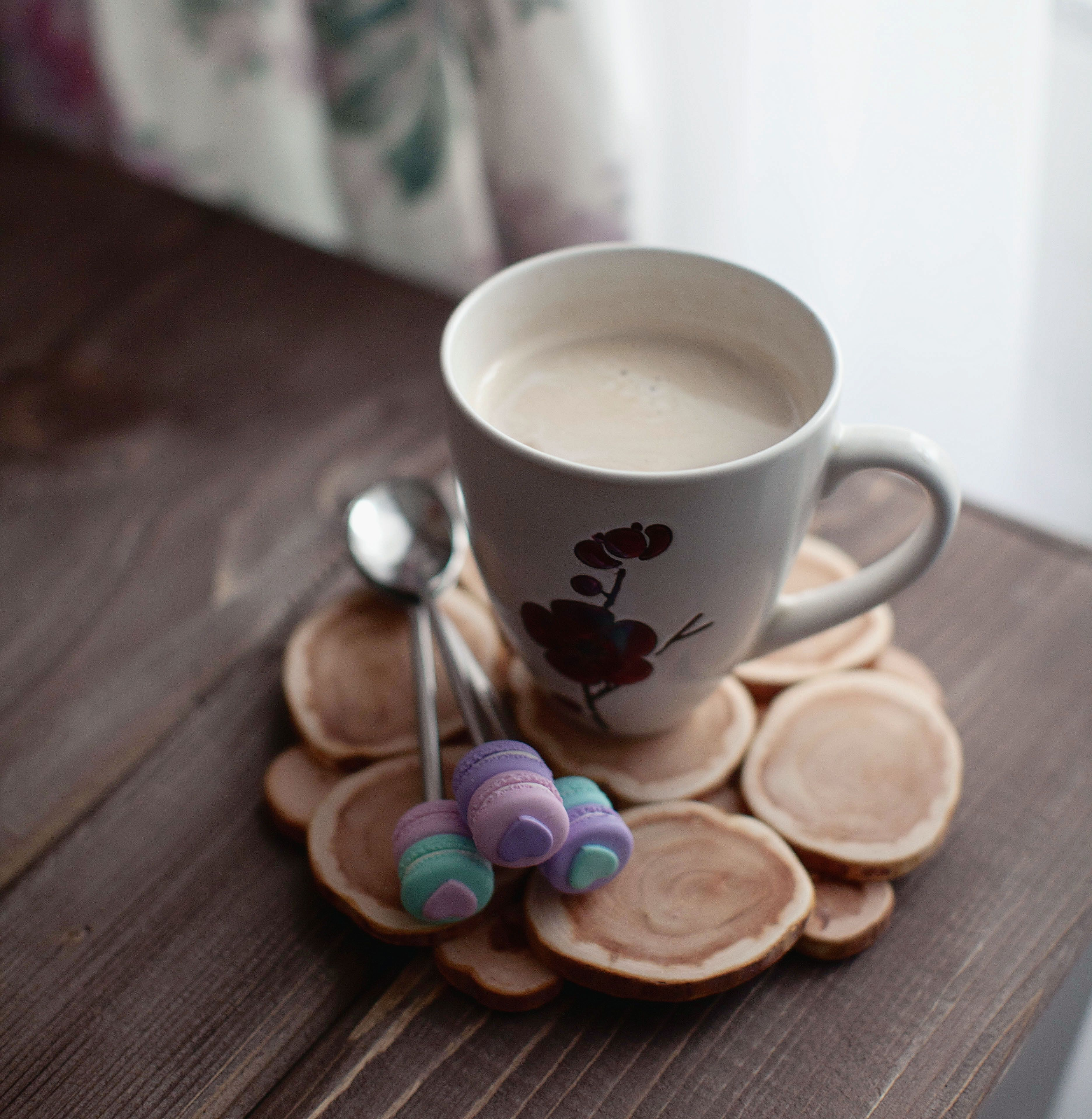 polymer clay  spoon macarons