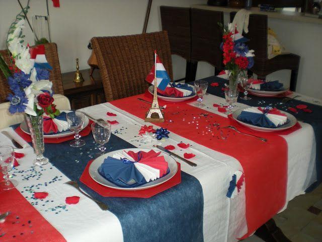 d coration de table bleu blanc rouge couleurs pinterest d coration de table bleue. Black Bedroom Furniture Sets. Home Design Ideas