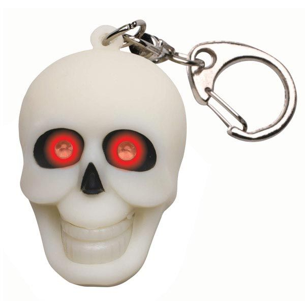 Light And Sound Keychain - Skull