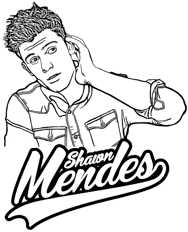 shawn mendes coloring pages Shawn Mendes coloring page by Topcoloringpages.| Celebrities  shawn mendes coloring pages