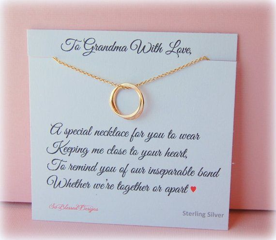 Grandmother Necklace Grandma Gift Gifts For New Inseparable Je