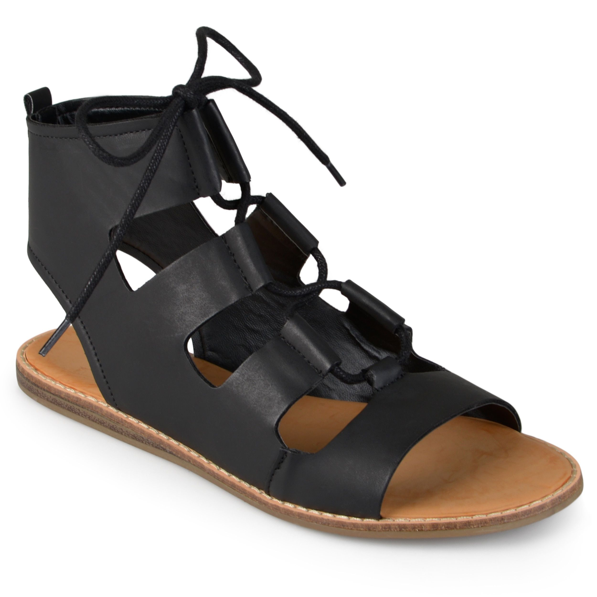 Journee Collection Women's 'Ila' Lace-up Flat Gladiator Sandals
