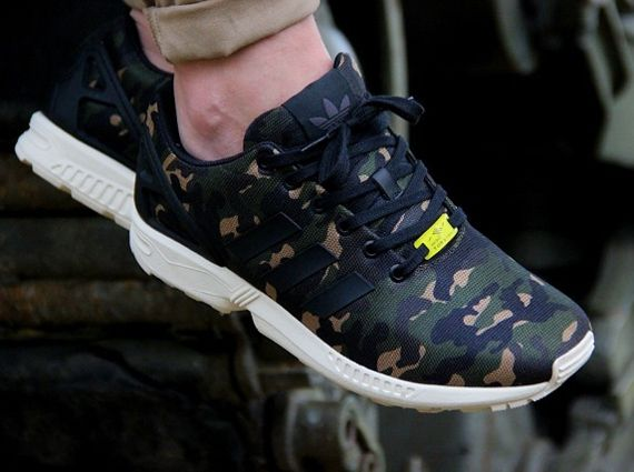 "Part of an exclusive collection adidas Originals created for Foot Locker  EU, the adidas ZX Flux ""Camo"" is finally making its way to FL stores across  Europe."