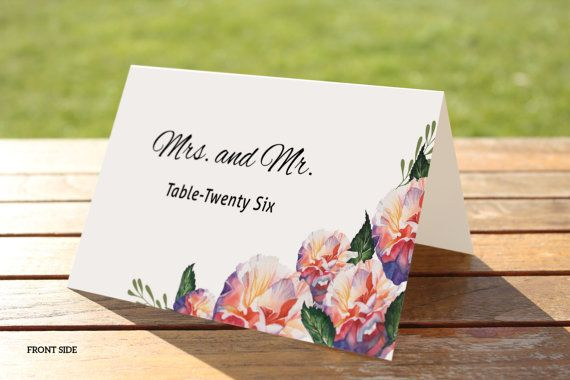 printable wedding place cards template by weddingtemplatestock - Printed Wedding Place Cards