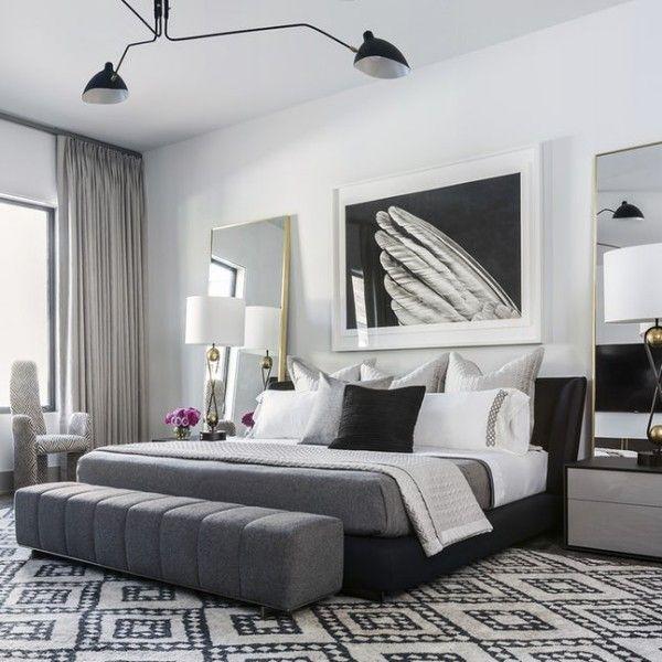 schlafzimmer dekokissen ideen schwarz weiß Dekoration - schlafzimmer deko wei