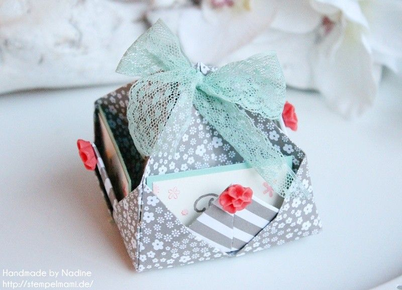 Stampin Up - Box - Goodie - Give Away - Schachtel - Verpackung - Origami Schachtel - Origami - Inspiration and Art ☆ Stempelmami