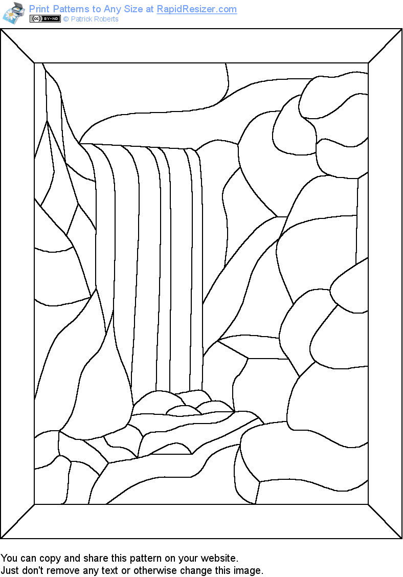 Free Waterfall pattern. Get it and more free designs at http ...