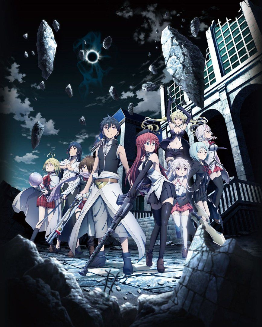 trinity seven anime movie title, visual, character designs, trailer