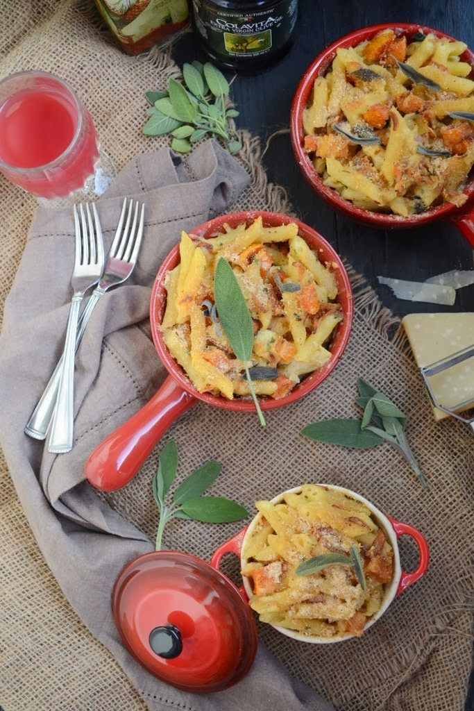 Penne with Roasted Butternut Squash in a Creamy Bechamel Sauce - Whisk Affair