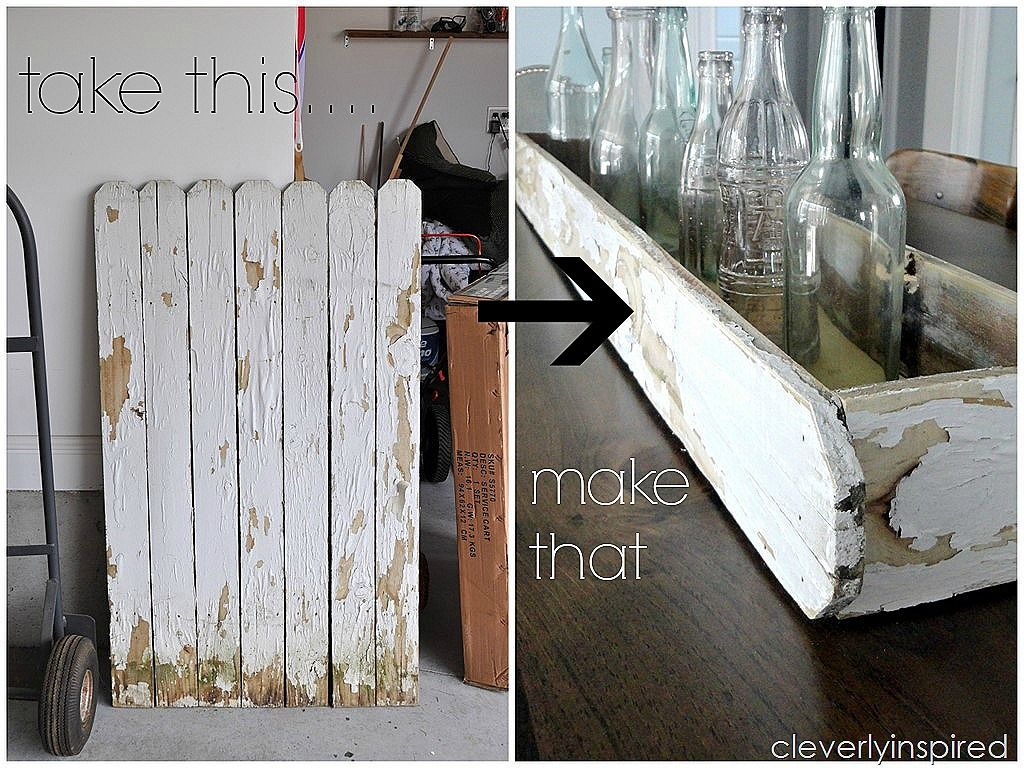 Repurpose Old Fence Make A Wood Tray Diy Repurposed Fence