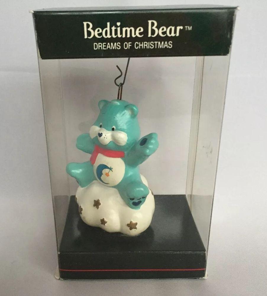 Care Bear Christmas Ornament 1985 Carebear Bedtime Dreams Of Christmas Vintage #AmericanGreetings
