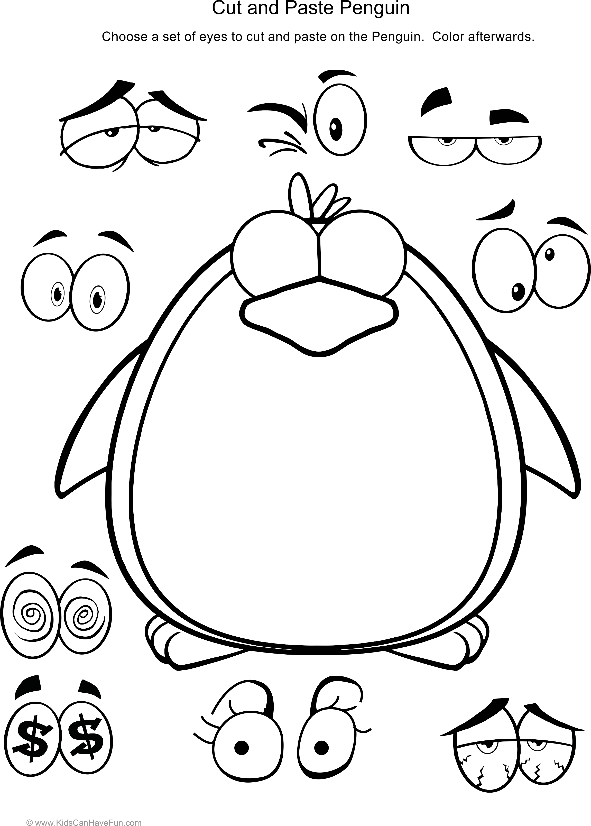 Face Worksheet For Toddlers