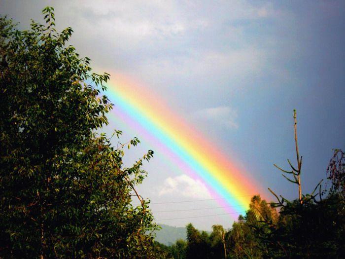 Arco iris natural