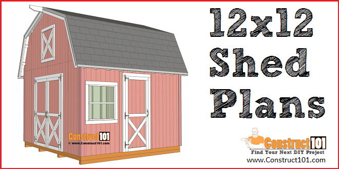 12x12 Barn Shed Plans With Overhang Free Pdf Diy