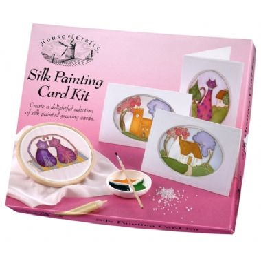 House of Crafts Silk Painting Card Kit