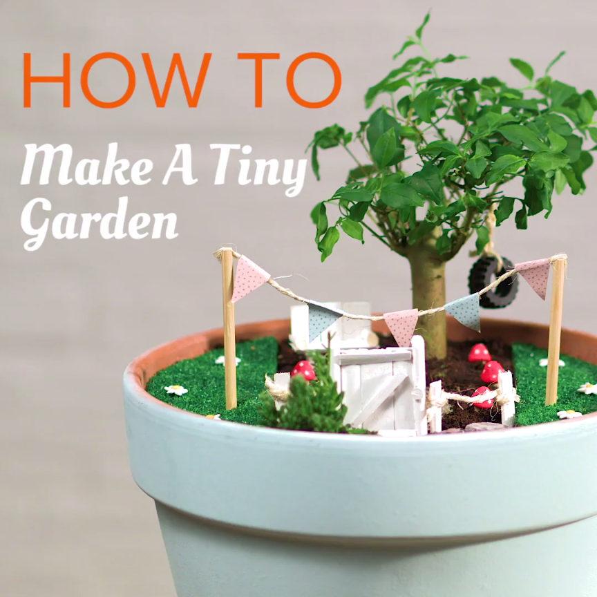 Photo of A DIY miniature garden is a fun creative project to do this Easter. Check out ou…