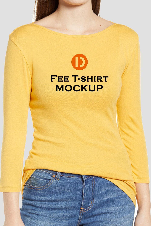 Download Free Woman T Shirt Mockup Shirt Mockup Clothing Mockup Tshirt Mockup