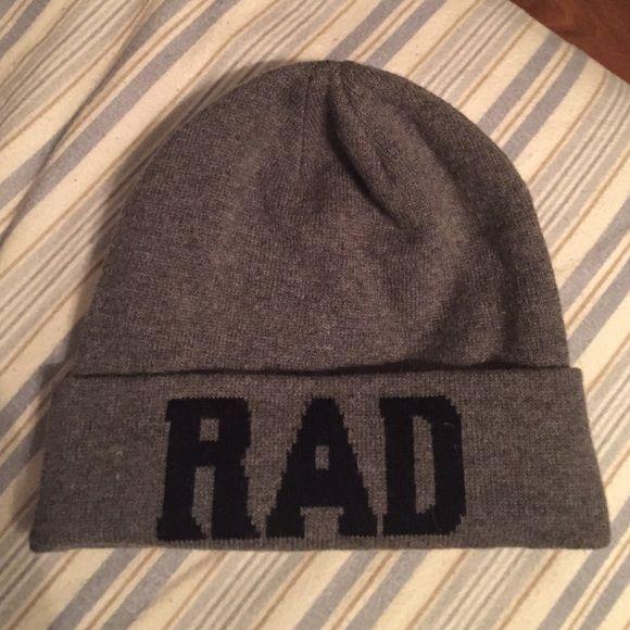 "RAD cold weather beanie hat Fashion ""RAD"" grey unisex cold weather never worn hat Aeropostale Accessories Hats"
