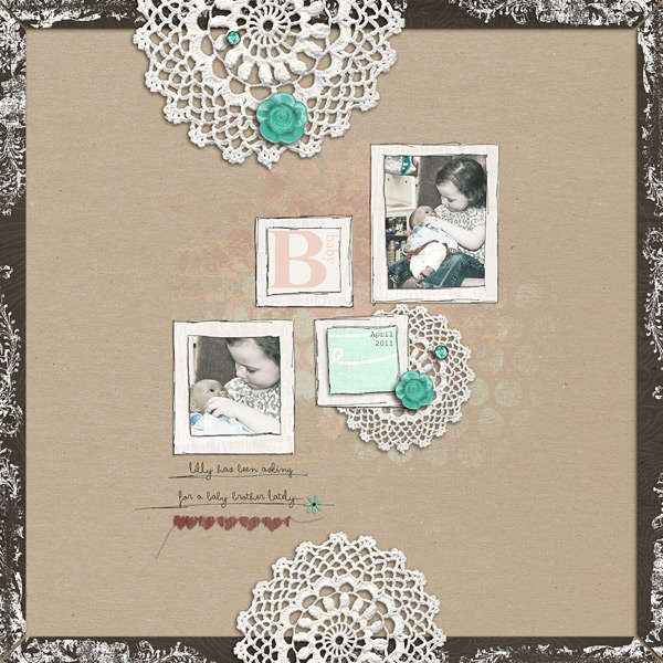I love what Jenn Barrette did with the doilies and the vertical look