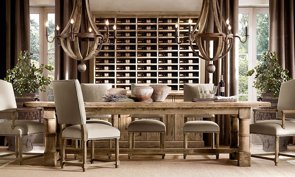 dining table not rh pinterest wine racks wine and tables