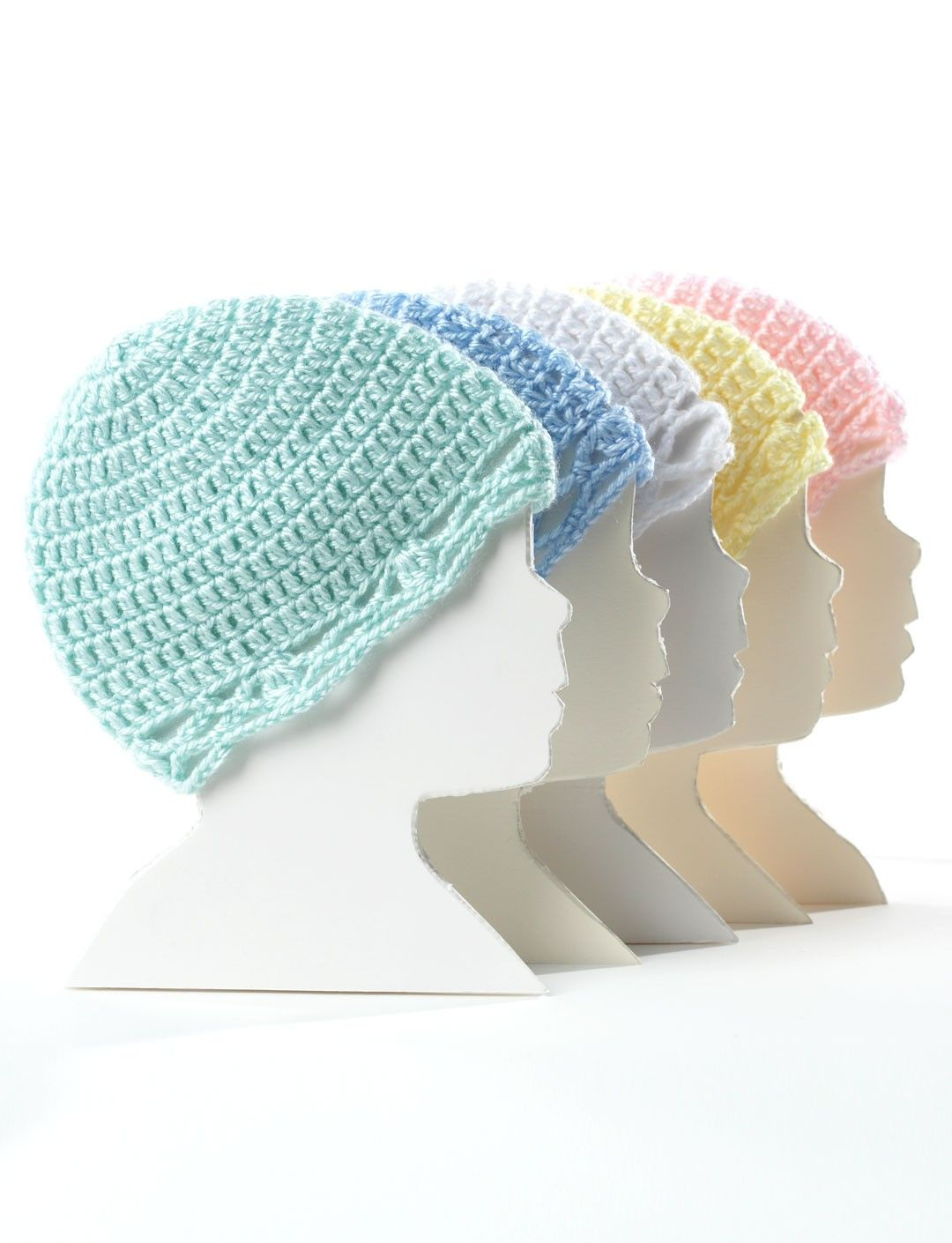 Crochet Baby Hat,beginner difficulty. Snug crocheted hats for babies ...