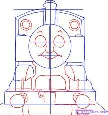 drawing a train from the front- polar express art project