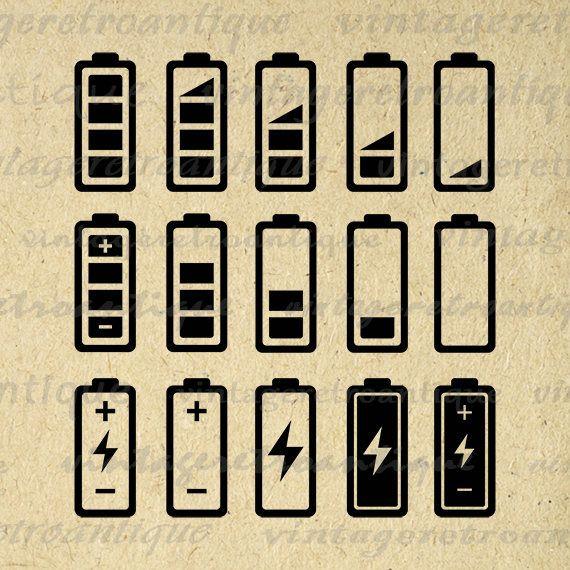 Printable Battery Icon Set Graphic Collage Sheet Digital Image Etsy In 2021 Printable Image Icon Set Collage Sheet