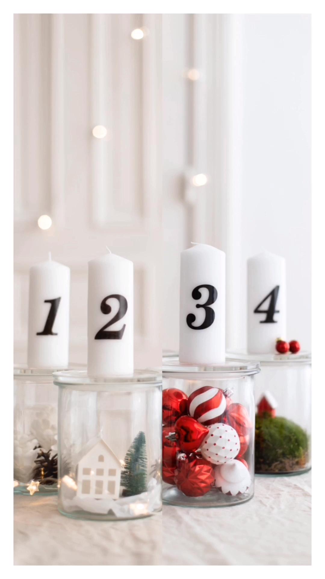 DIY Adventsgläser – eine Idee, zwei Styles –  Gestalte mit den IKEA VINTERFEST …