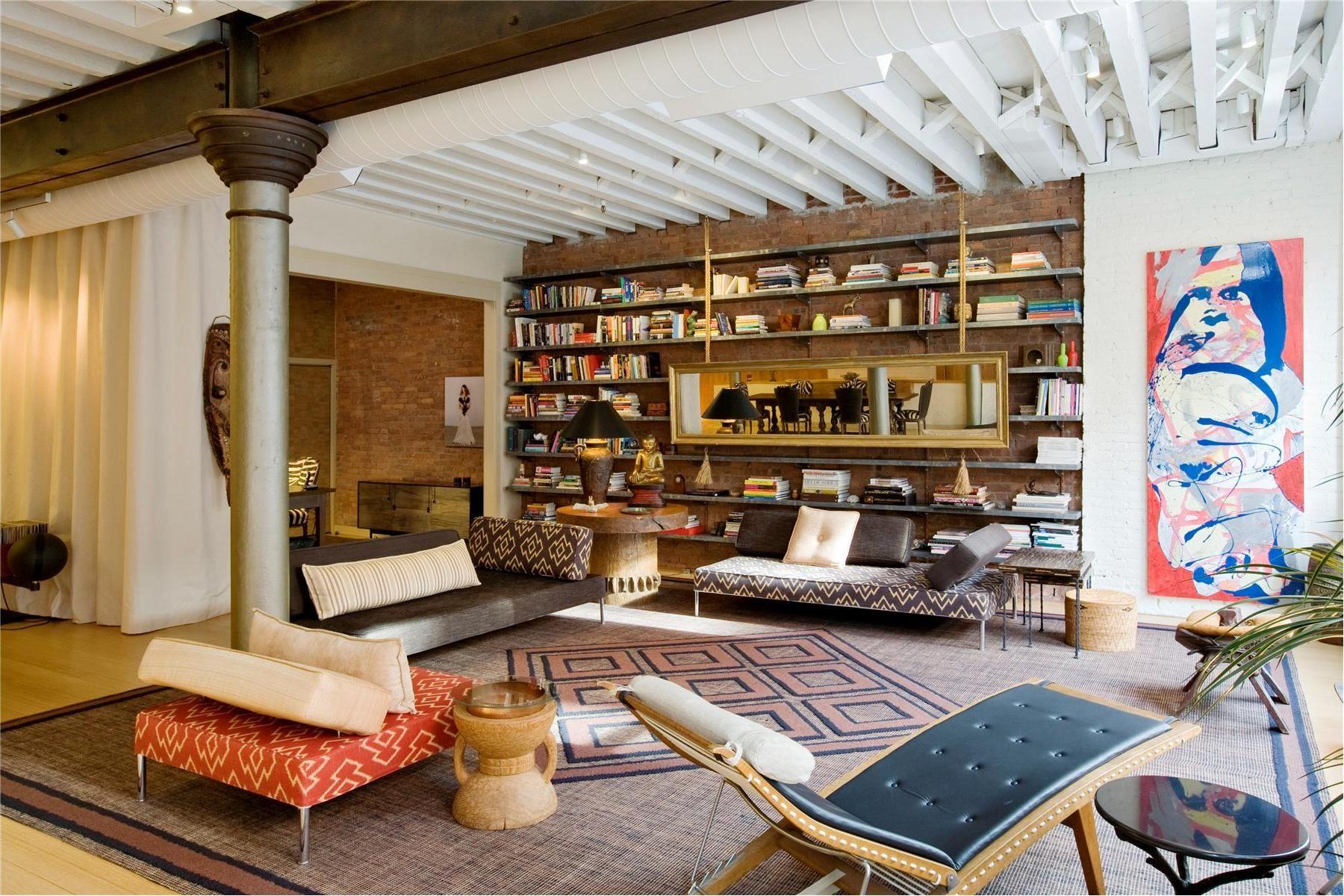 10x Open Boekenplanken : Elegant loft in tribeca my style pinterest lofts elegant and