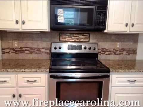 Giallo Vicenza Granite 4 19 13 Http Www Fireplacecarolina Com Granite Countertops Inst Off White Kitchen Cabinets Off White Kitchens White Kitchen Cabinets