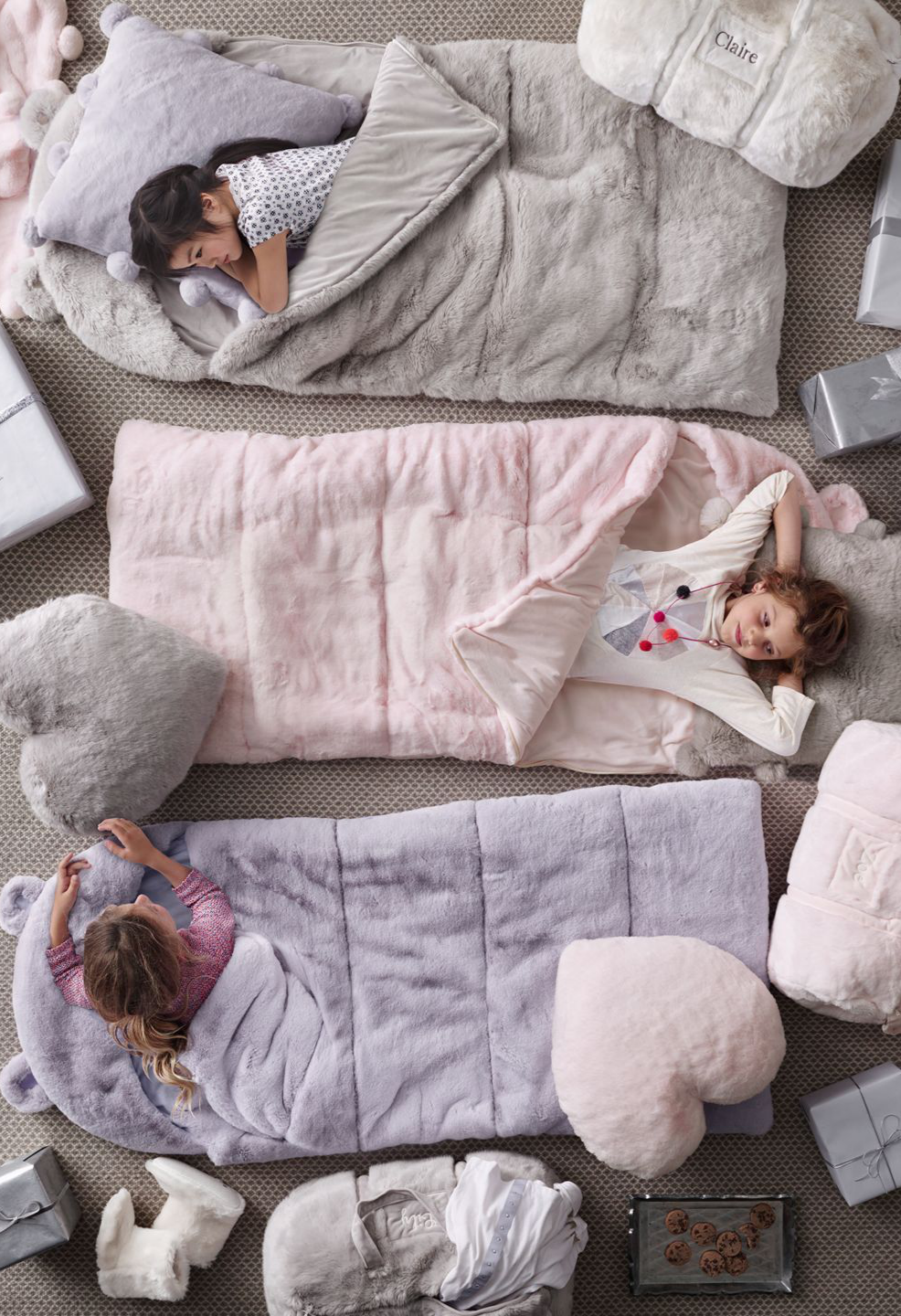 8e364c9fe4fb luxe faux fur hooded sleeping bags. topped with a whimsical pair of ears  and scaled down to fit the littlest sleepers.  rhbabyandchild