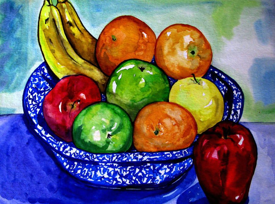 Bowl Of Fruit Painting - Bowl Of Fruit Fine Art Print ...
