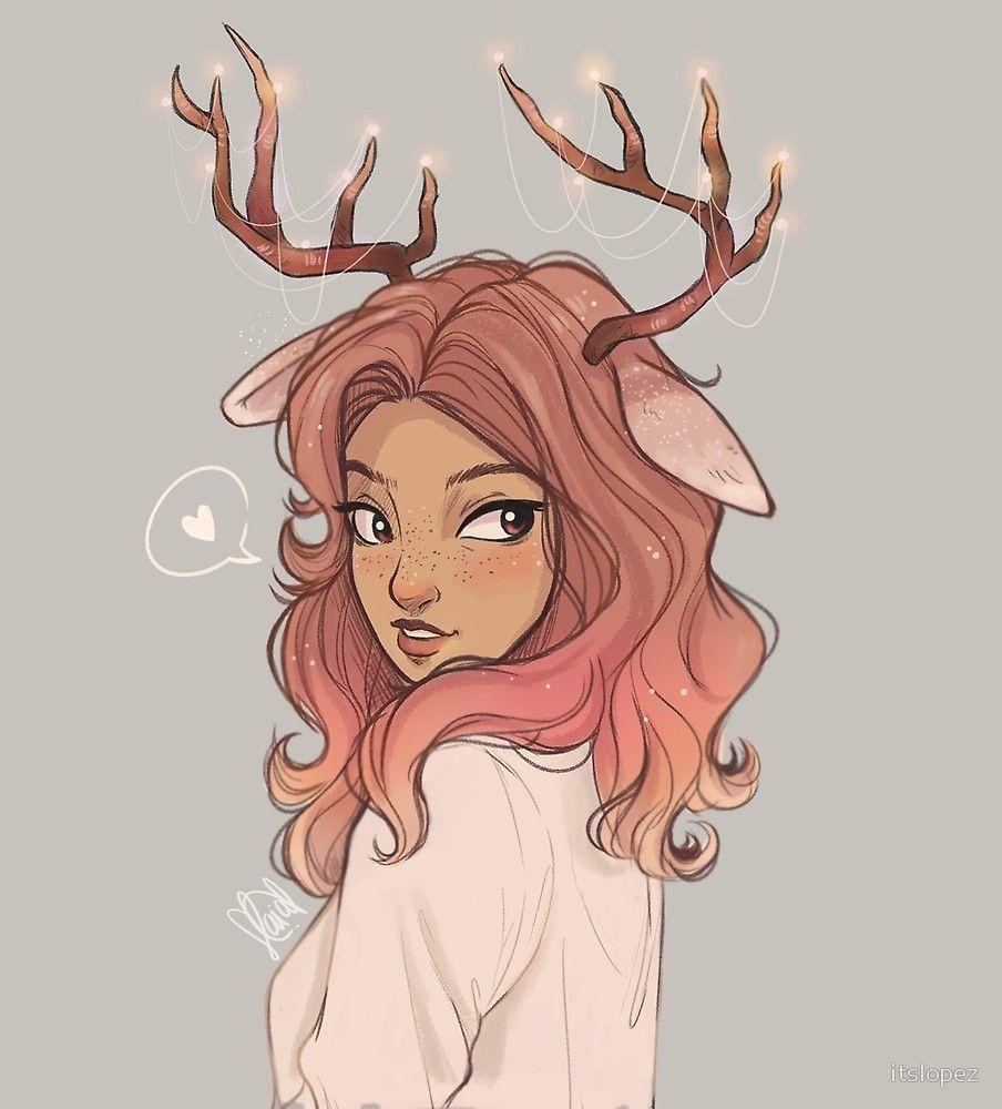 Deer By Itslopez Lindos Dibujos Tumblr Chica Tumblr Dibujo Dibujos Bonitos