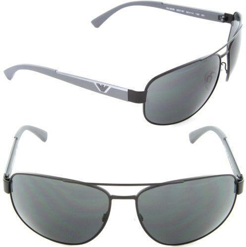b46946a99612 Emporio Armani EA 2036 3001 87 Rectangle Sunglasses Matte Black Grey Lens