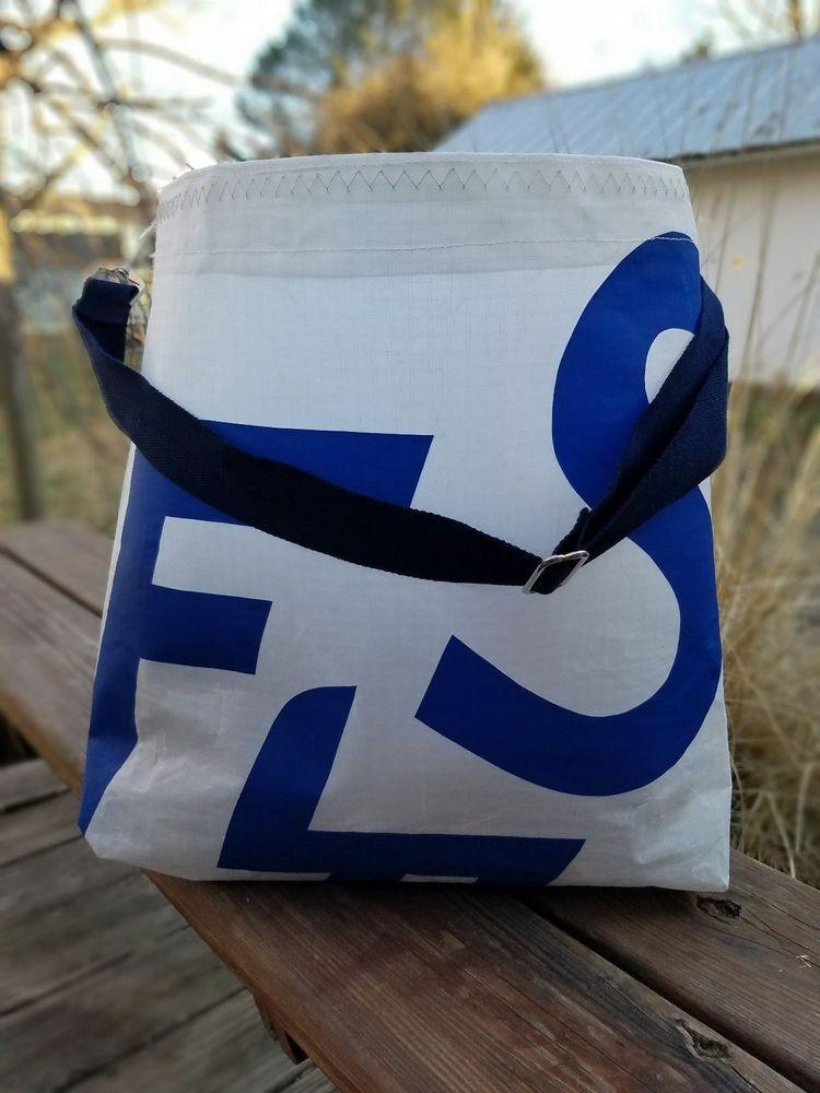 Windward Sailbags Recycled Sail Exclusive Traveler Tote w/ Exterior Pocket #HandmadebyWindwardSailbags #ExclusiveTravelerTote