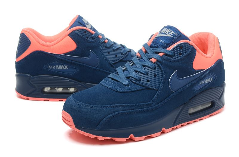 NIKE AIR MAX 90 PREMIUM NAVY BLUE ATOMIC PINK