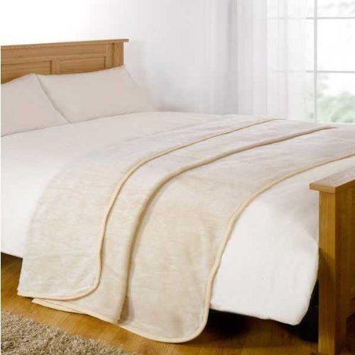 Dreamscene Mink Faux Fur Throw, Cream, 125 x 150 Cm: Amazon.co.uk: Kitchen & Home