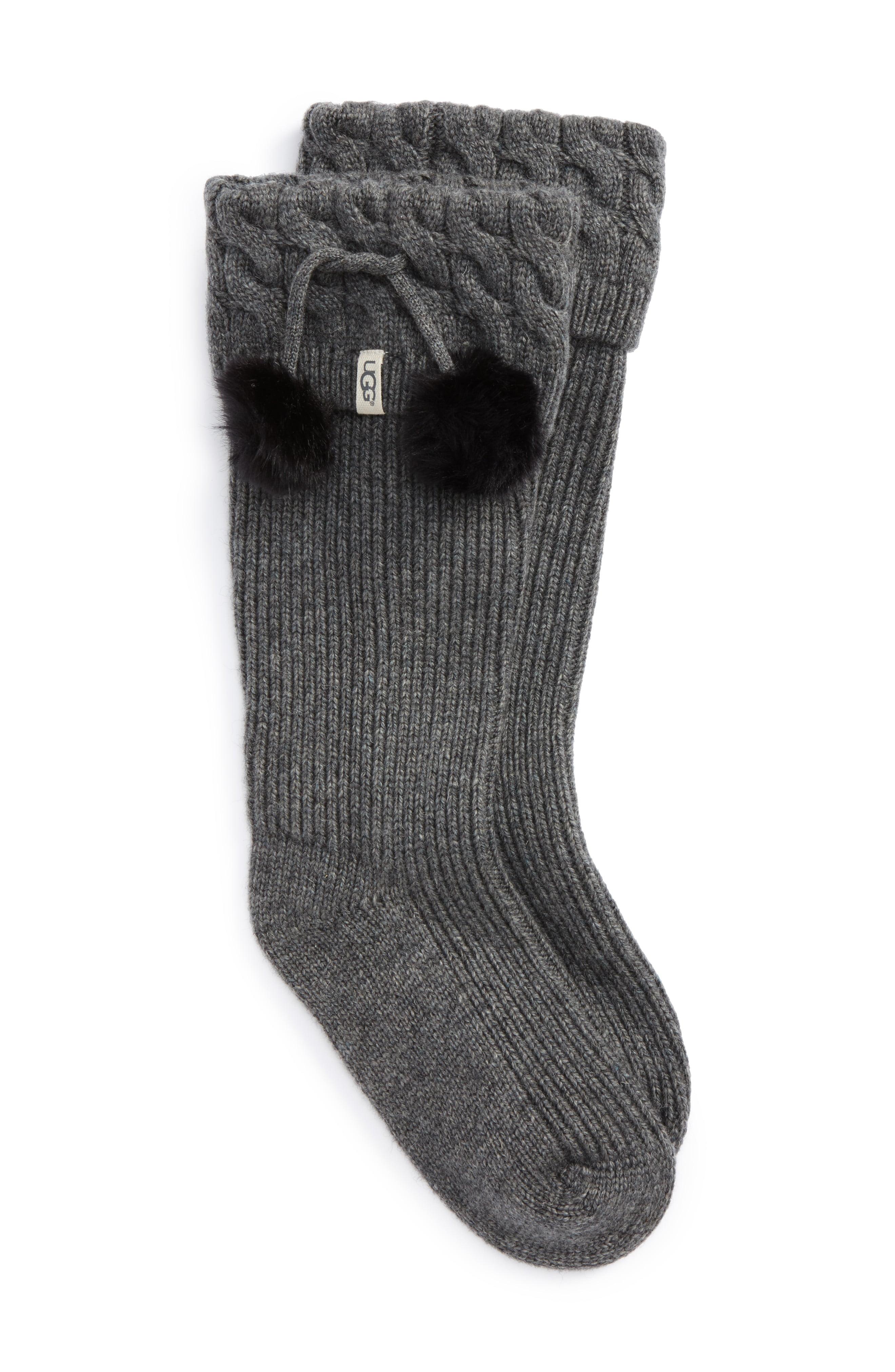 UGG UGGpure(TM) Pompom Tall Rain Boot Sock in 2019