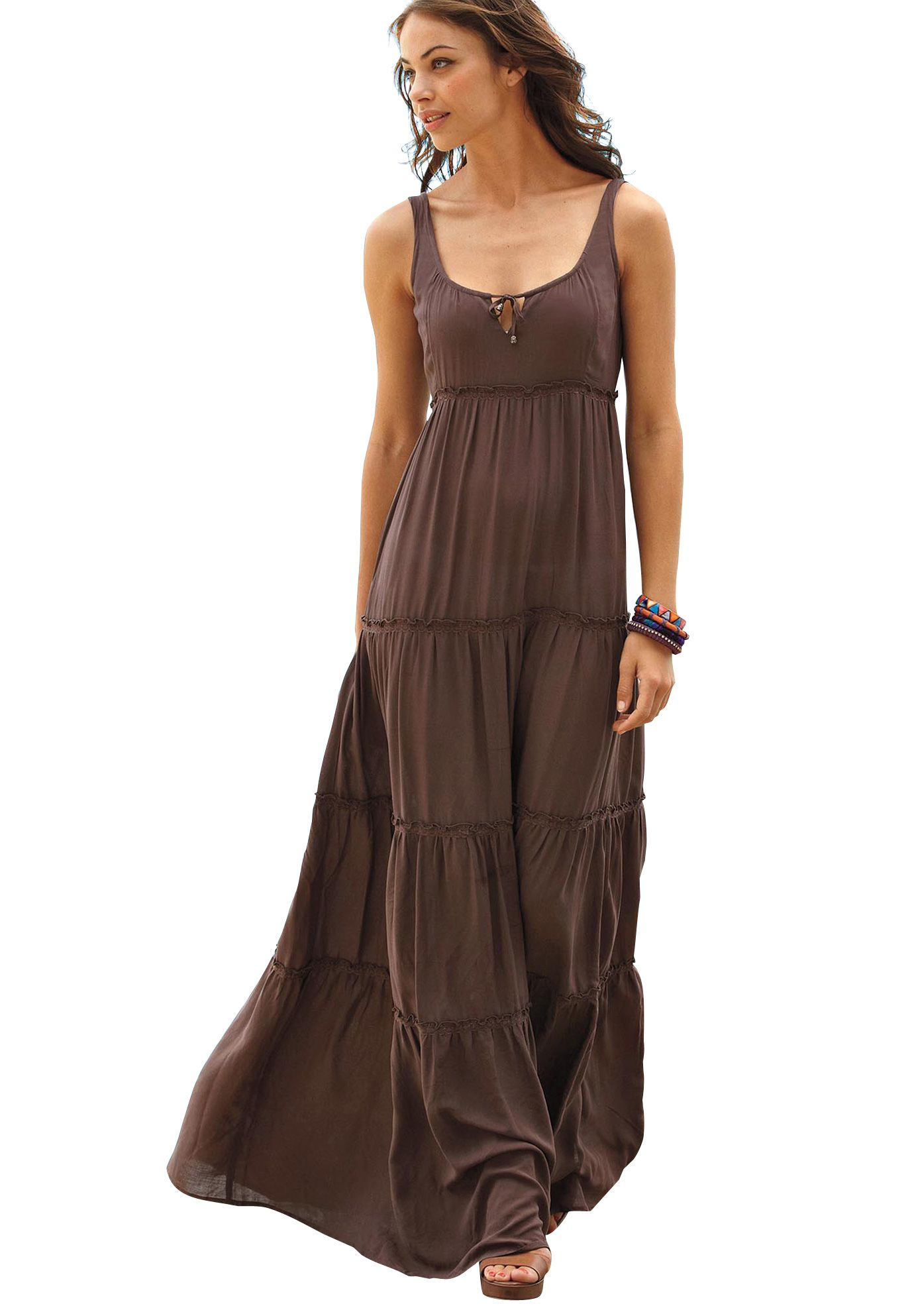 Tiered Maxi Dress by La Redoute® | Plus Size Casual Dresses ...