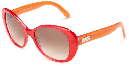 Kate Spade Women's Emerys Cat-Eye Sunglasses,Red, Orange | stylexotic.com