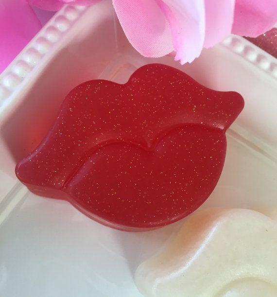 Valentine Soap  Lips Soap  Kiss Soap  Love by SeasideSoapKitchen