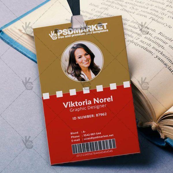 Office u2013 Free ID Card PSD Template #BusinessIDCard #clean - id card psd template