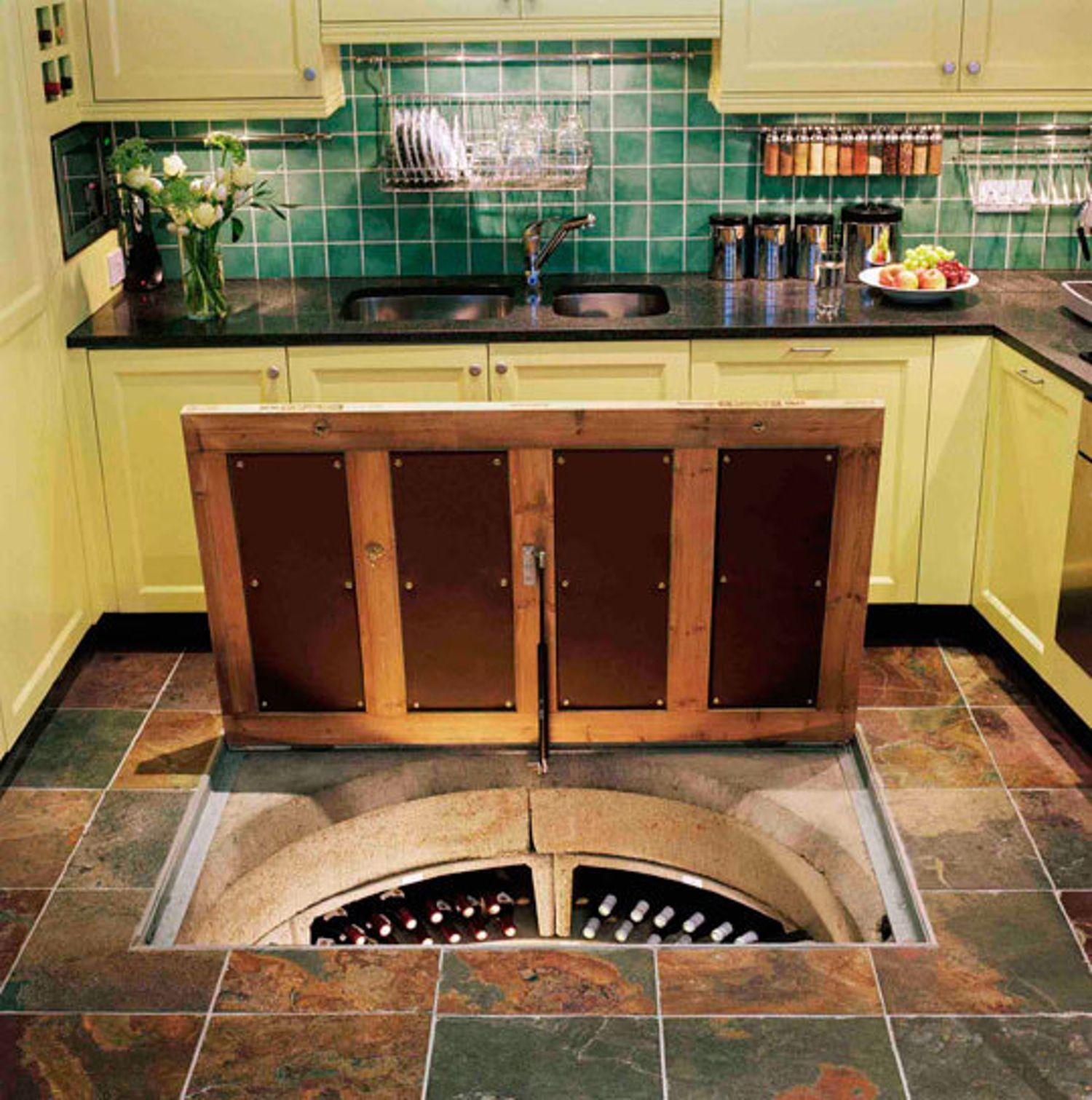 Trap Door Wine Cellar Trapdoor In The Kitchen Floor Spiral Wine Cellars  The O'jays