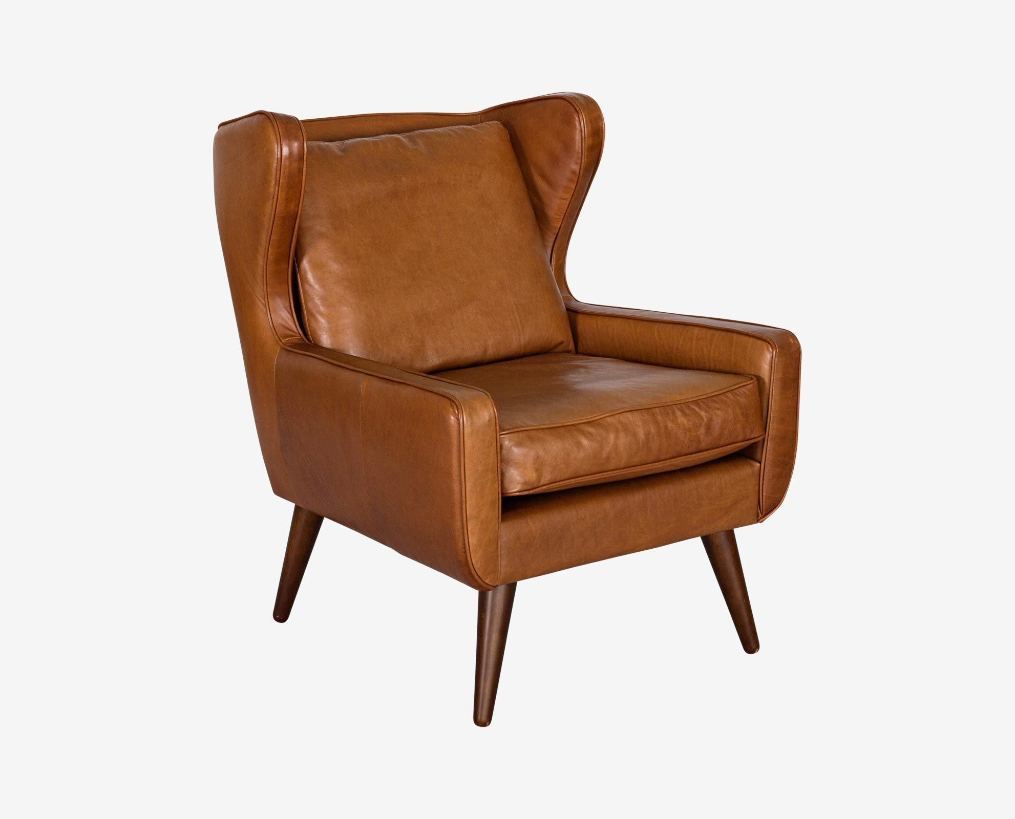 Scandinavian Designs - An updated take on the classic wingback chair, the  Giesen leather chair