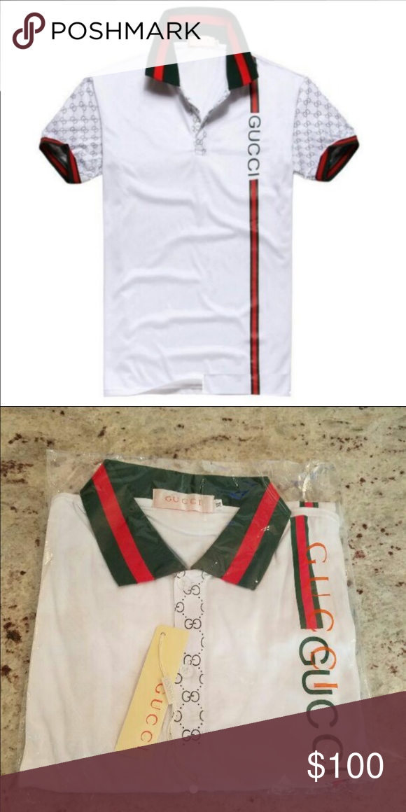 eb8cd424 WHITE GUCCI POLO BRAND NEW WITH TAGS AND BAG! BRAND NEW WITH TAGS AND BAG