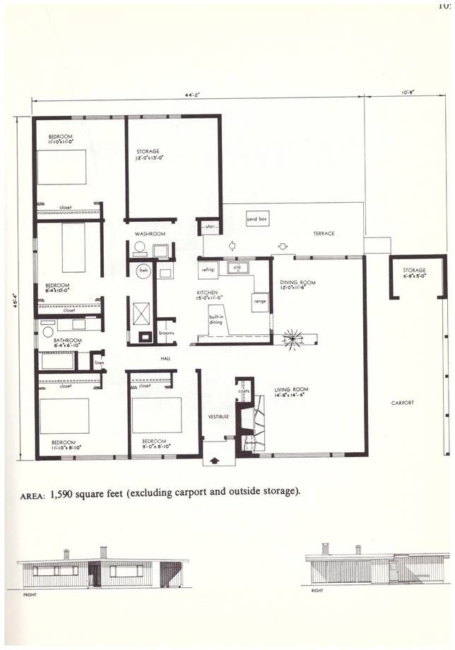There S Lots To Learn From These Small House Plans From The 60s Small House Plans Small House House Plans