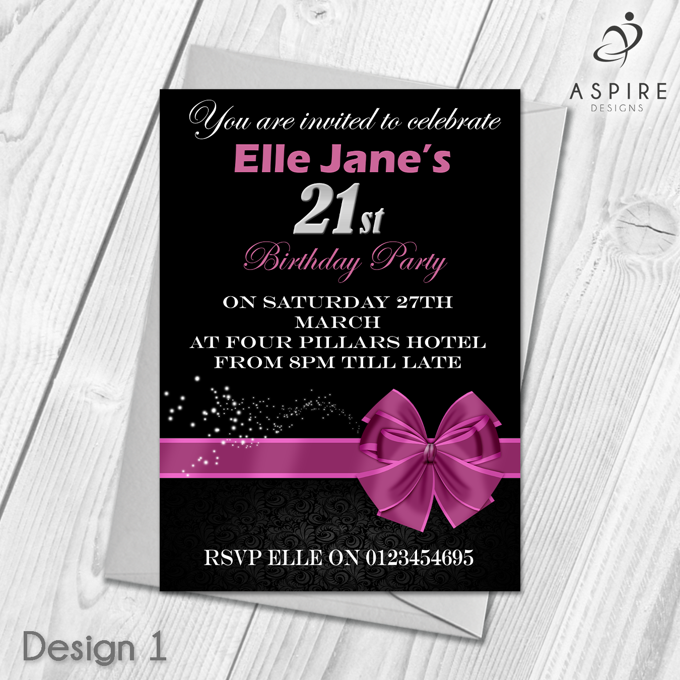 Personalised Adult Modern Birthday Party Doo Invitations ...